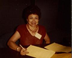 Juanita Arocho Rosado at Homero Rosado's Reception