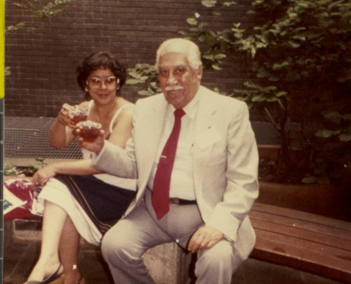 Homero Rosado and Juanita Arocho at His Reception