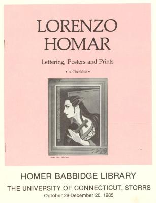 Program for Lorenzo Homar exhibit at University of Connecticut, Storrs