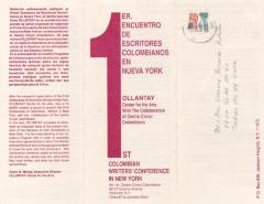 1er Encuentro de Escritores Colombianos en Nueva York/ 1st Colombian Writer's Conference in NY