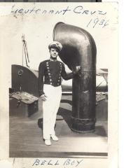 Puerto Rican Lieutenant Cruz on the steamship Borinquen
