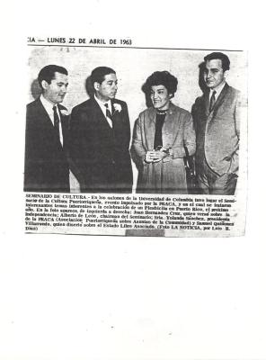 Juan Hernández Cruz (at left) with Alberto de Leon, Yolanda Sanchez, and Samuel Quinones Villarrendo