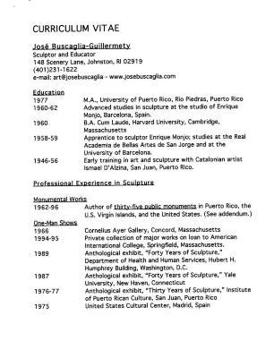 José Buscaglia - Curriculum Vitae