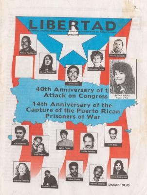 Libertad publication cover of the 40th Anniversary of the Attack on Congress