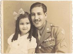 SGT. Homero Rosado with a niece