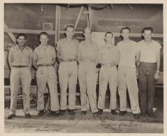 Corporal Homero Rosado with fellow soldiers in the Phillippines during World War Two