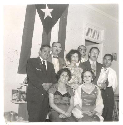Homero and Juanita Rosado (far left) with others