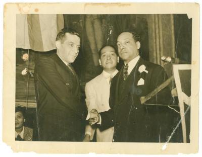 Congressman Vito Marcantonio with Joaquin and Jesus Colon