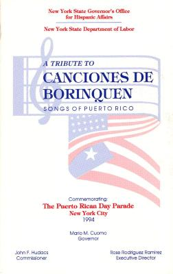 Program for A Tribute to Canciones de Borinquen - Songs of Puerto Rico