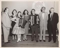 Poet Juan Avilés with accordionist Martha Bertiex