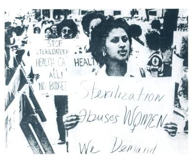 Women Protesting Forced Sterilization