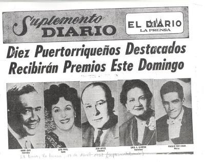 Diez Puertorriqueños Destacados Recibieron Premios Domingo