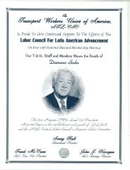 A Memorial Flyer for Damaso Seda