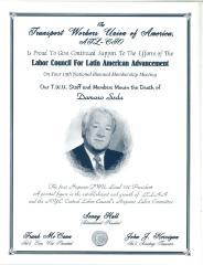 A Memorial Flyer for Damaso Seda