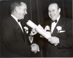 Juan Avilés Accepting an Award