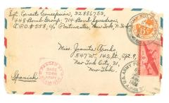 Envelope addressed to Juanita Arocho Sgt. Erneto Concepcion from the United States Army