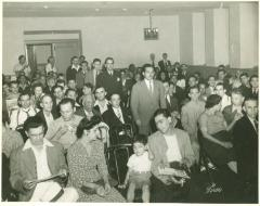 Community meeting at an event