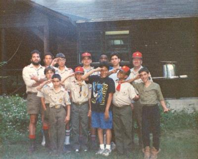 A group of Boy Scouts