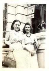 Portrait of Juanita Arocho (left) and an unidentified woman