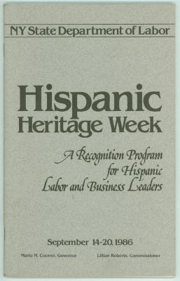 Hispanic Heritage Week - A Recognition Program for Hispanic Labor and Business Leaders