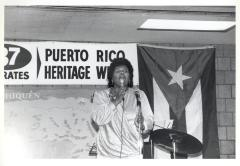 Julia Jorge giving a speech during Puerto Rico Heritage Week