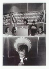 Local 371 Executive Vice President Julia Jorge delivers speech during National Conference of Puerto Rican Women
