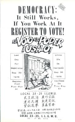 Register to Vote! El Voto es Poder! Usalo!
