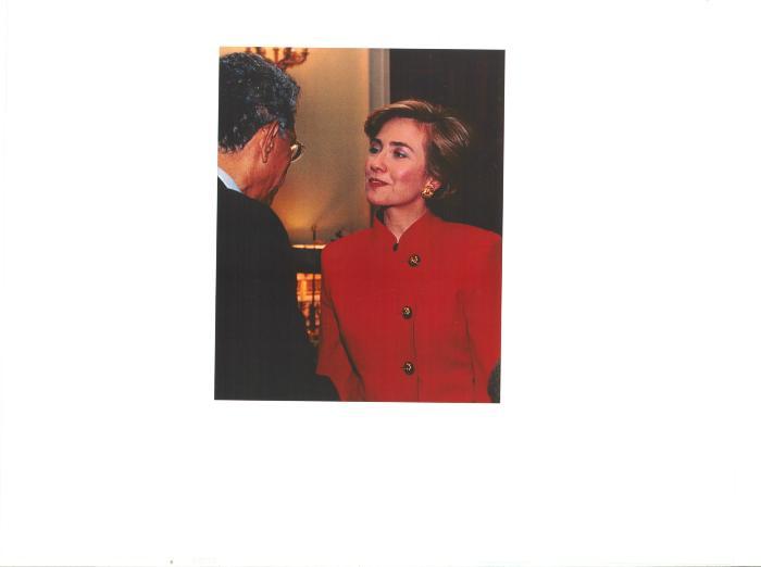 First Lady and Senator Hillary Clinton