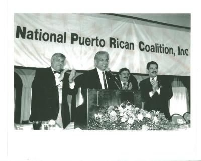 Louis Nuñez speaking before the National Puerto Rican Coalition, Inc.