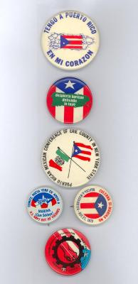 Buttons celebrating Puerto Rican pride