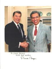 Louis Nuñez and President Ronald Reagan
