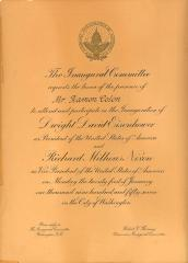 White House inaugural invitation to Ramón Colón
