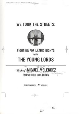We Took the Streets: Fighting for Latino Rights with the Young Lords title page