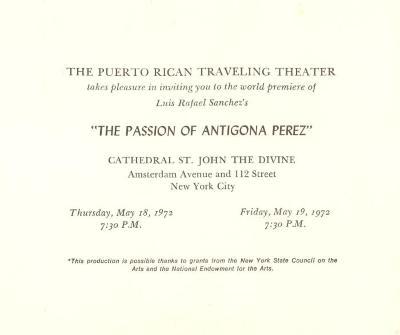 The Passion of Antigona Perez