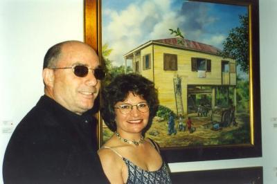 Samuel García and an unidentified woman
