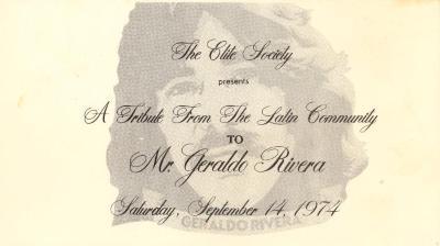 A Tribute from the Latin Community to Geraldo Rivera