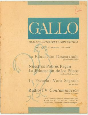 Gallo: Dialogo - Interpret Acion - Critica