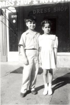 Two Santiago Febus Family children in the Bronx