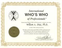 Membership Certificate to William Díaz
