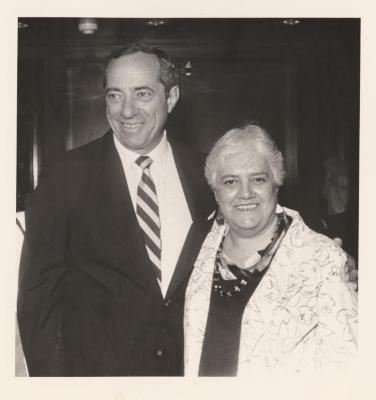 Alice Cardona and Governor Mario Cuomo