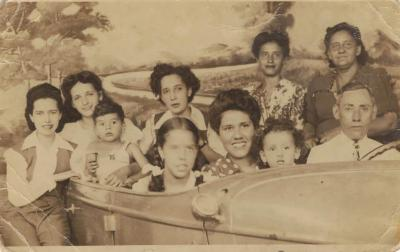 Antonia Pantoja with family at Coney Island