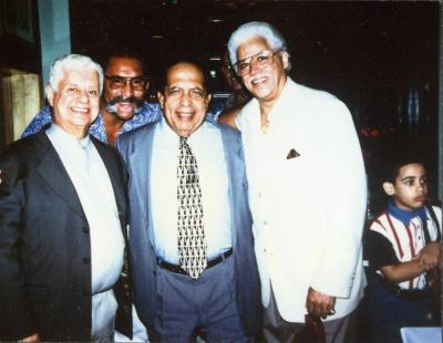 Tito Puente, Jose Encarnacion, Cachao Lopez, and Johnny Pacheco