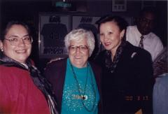 Alice Cardona between Nydia Velázquez and an unidentified woman