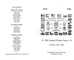The Santiago Iglesias Educational Society Program - 38th Annual Dinner Dance