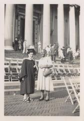 Antonia Pantoja with her grandmother in her graduation