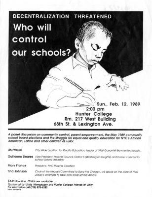 Decentralized threatened - Who will control our schools?