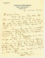 Correspondence to Erasmo Vando from Gilberto de Concepcion de Gracia