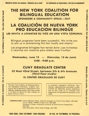 The New York Coalition for Bilingual Education