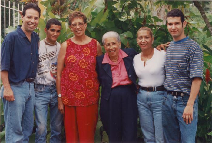 Antonia Pantoja with some of the community people