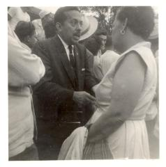 Gilberto Concepcion de Gracia at a busy public event